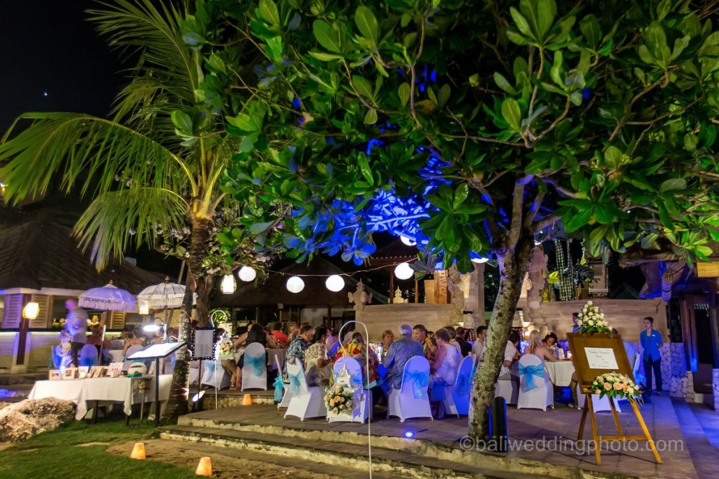 bali wedding reception