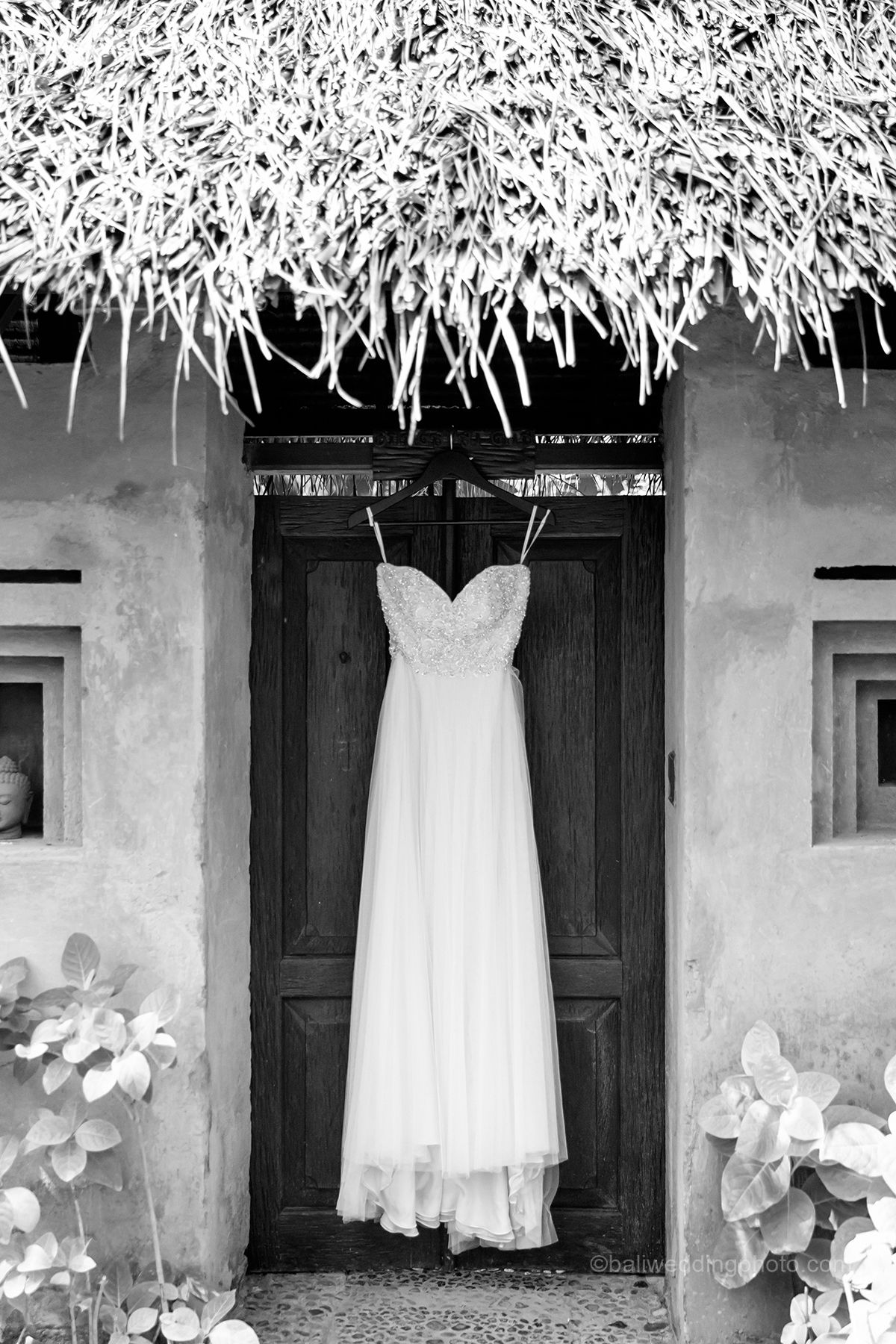 hanging wedding dress pictures