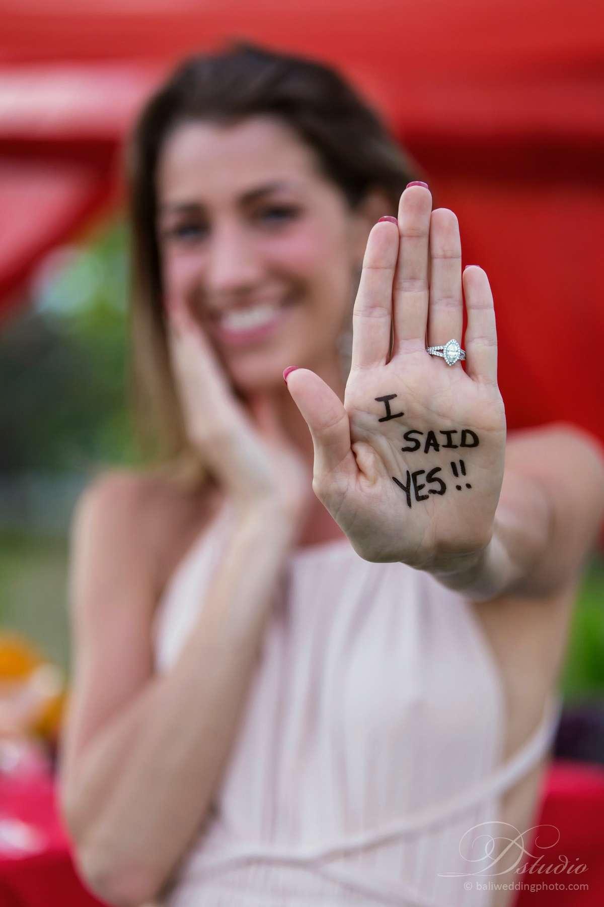 bali wedding proposal