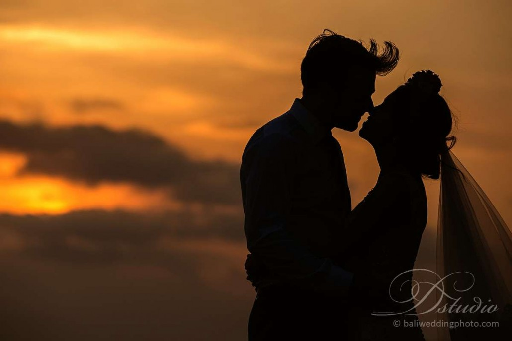 bali sunset wedding photography